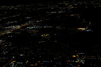 Dallas from the sky at Night
