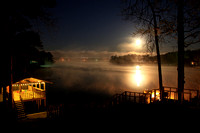 Lake Jordan Full Moon with Fog